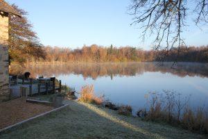 Charmant-foto huis en viswater