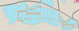 Natura Carp-stekkenkaart